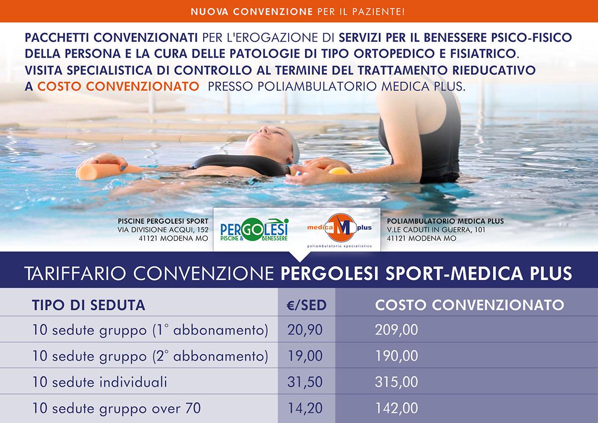 volantino convenzione pergolesi medica plus