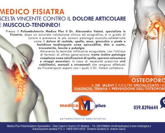 Il Medico Fisiatra: la scelta vincente contro il dolore articolare e muscolo-tendineo!