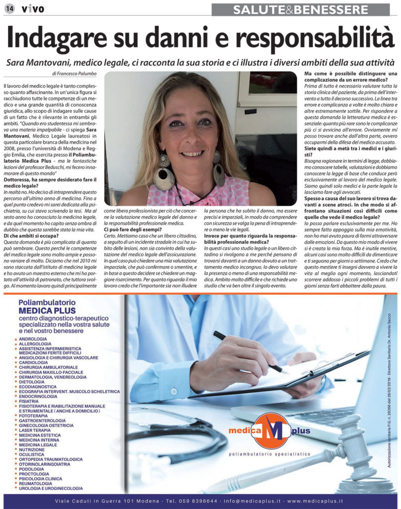 dr.ssa Mantovani Sara Medico Legale